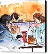 At Nashville Ihop Canvas Print by Miki De Goodaboom