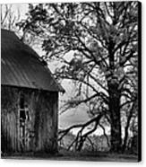 At The Barn In Bw Canvas Print by Julie Dant