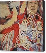 At The Powwow Canvas Print by Wanda Dansereau