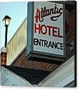 Atlantic Hotel Canvas Print by Skip Willits