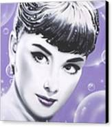 Audrey Hepburn Canvas Print by Alicia Hayes