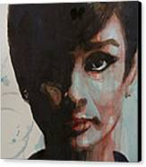 Audrey Hepburn  Canvas Print by Paul Lovering