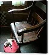 Aunt Tillie's Sewing Chair Canvas Print by Julie Dant