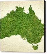 Australia Grass Map Canvas Print by Aged Pixel