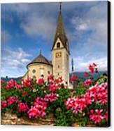 Austrian Church Canvas Print by Debra and Dave Vanderlaan