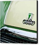 Auto Union Dkw Hood Emblem Canvas Print by Jill Reger
