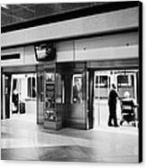 automated guideway transit system at Denver International Airport Colorado USA Canvas Print by Joe Fox
