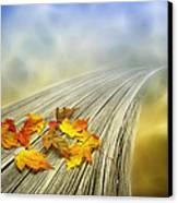 Autumn Bridge Canvas Print by Veikko Suikkanen