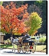Autumn Carriage Ride Canvas Print by Barbara McDevitt