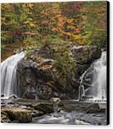 Autumn Cascades Canvas Print by Debra and Dave Vanderlaan