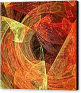 Autumn Chaos Canvas Print by Andee Design