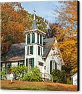 Autumn Church Canvas Print by Bill Wakeley