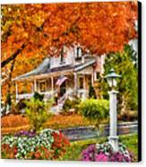 Autumn - House - The Beauty Of Autumn Canvas Print by Mike Savad
