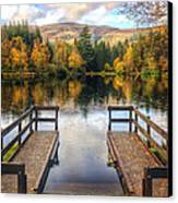 Autumn In Glencoe Lochan Canvas Print by Dave Bowman