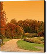 Autumn In The Park - Holmdel Park Canvas Print by Angie Tirado