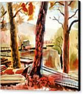Autumn Jon Boats II Canvas Print by Kip DeVore