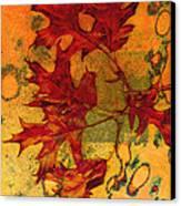 Autumn Leaves Canvas Print by Ann Powell
