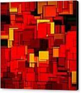 Autumn Modern Abstract Xv Canvas Print by Lourry Legarde