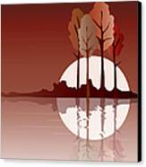 Autumn Reflected Canvas Print by Jane Rix