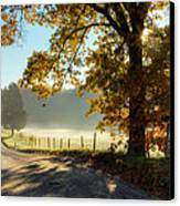 Autumn Road Canvas Print by Bill  Wakeley