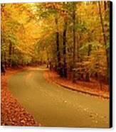 Autumn Serenity - Holmdel Park  Canvas Print by Angie Tirado