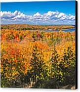 Autumn Vistas Of Nicolet Bay Canvas Print by Mark David Zahn