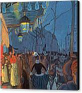 Avenue De Clichy Paris Canvas Print by Louis Anquetin