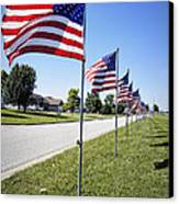 Avenue Of The Flags Canvas Print by Cricket Hackmann