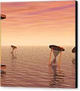 Awash In Time Canvas Print by Jerry McElroy