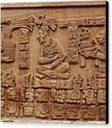 Aztec Woodcarving Tablets Canvas Print by Viktor Savchenko