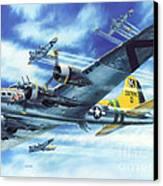 B-17g Flying Fortress A Bit O Lace Canvas Print by Stu Shepherd