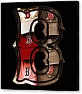 B For Bosox - Vintage Boston Poster Canvas Print by Joann Vitali