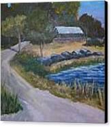 Babcock Ranch Webb Lake Canvas Print by Kathy Przepadlo