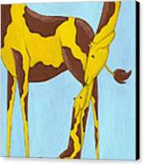 Baby Giraffe Nursery Art Canvas Print by Christy Beckwith