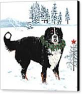 Bah Humbug Merry Christmas Large Canvas Print by Liane Weyers
