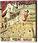 Bains Parisiens. Advertisment Marking Canvas Print by Everett