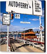 Balboa Island Auto Ferry In Newport Beach California Canvas Print by Paul Velgos