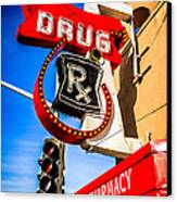 Balboa Pharmacy Drug Store Newport Beach Photo Canvas Print by Paul Velgos