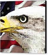 Bald Eagle Art - Old Glory - American Flag Canvas Print by Sharon Cummings