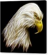 Bald Eagle Fractal Canvas Print by Adam Romanowicz