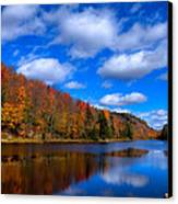 Bald Mountain Pond In Autumn Canvas Print by David Patterson