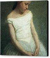 Ballerina Female Dancer Canvas Print by Angelo Morbelli
