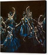 Ballerina Ghosts Canvas Print by Jani Freimann