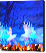 Ballet Dancers Abstract. Canvas Print by Oscar Williams