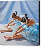Ballet Dancers Canvas Print by Paul Walsh