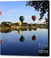 Balloons Heading East Canvas Print by Carol Groenen