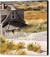 Balston Beach House Canvas Print by Karol Wyckoff