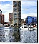 Baltimore Inner Harbor Marina Canvas Print by Olivier Le Queinec