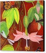 Bananapoka Canvas Print by Anna Skaradzinska