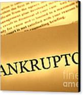 Bankruptcy Notice Canvas Print by Olivier Le Queinec